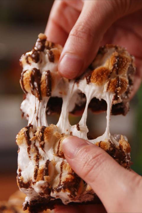 S'mores Poke Brownies Vertical