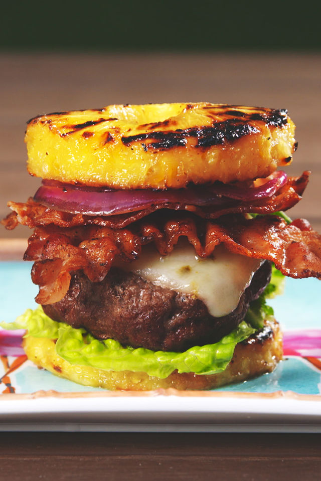 Pineapple Bun Burgers Vertical