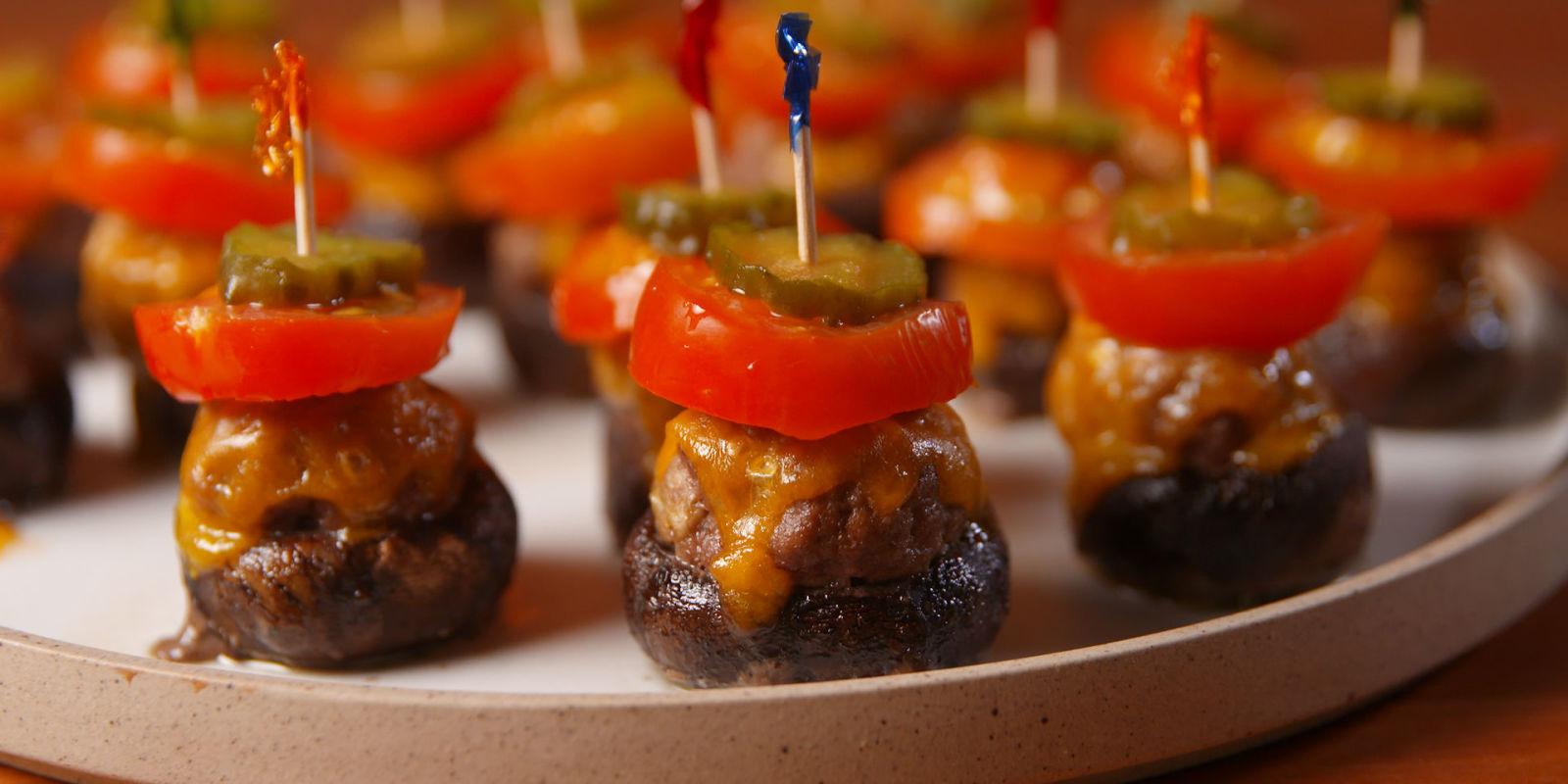 Best Burger Stuffed Mushrooms Recipe How To Make Burger