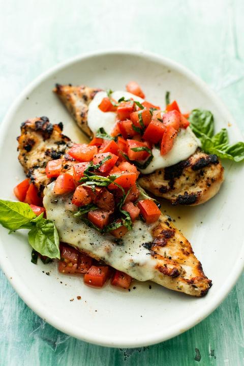 Best Grilled Bruschetta Chicken Recipe How To Make Grilled Bruschetta Chicken Delish Com