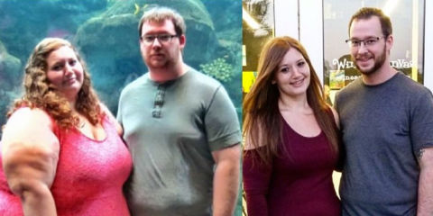 couple loses weight