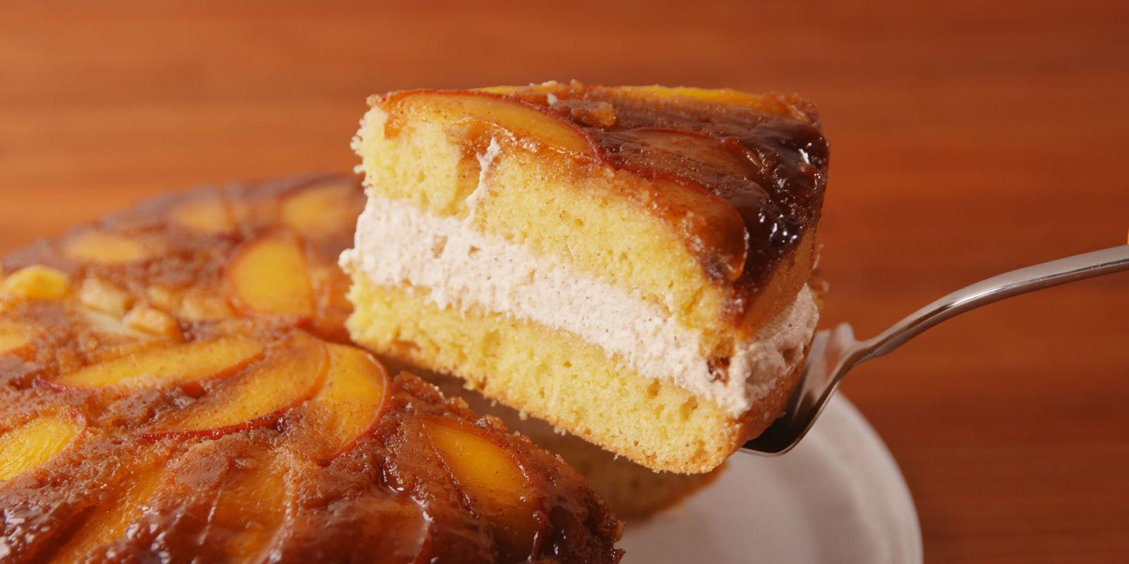 Recipes peach upside down cake using cake mix