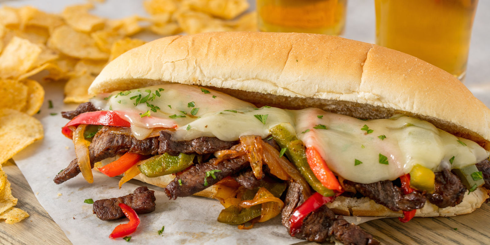 Easy Homemade Philly Cheese Steak Recipe - How to Make a ...