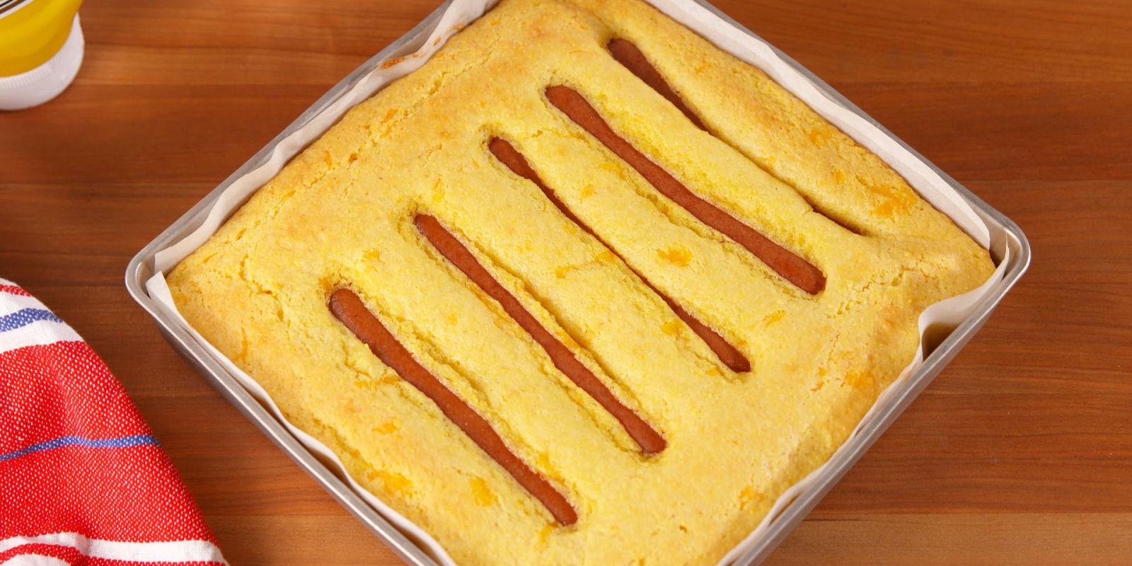 Jiffy Hot Dog Casserole