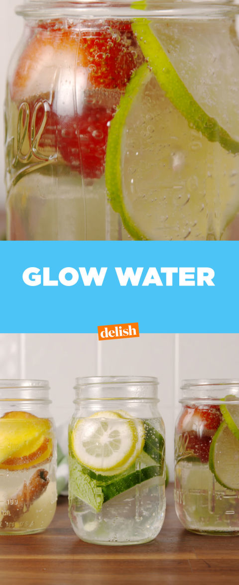 how to make seltzer water glow