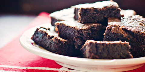 Brownies on a plate