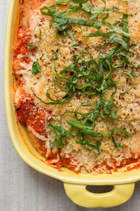 Everyday Chicken Parmesan Casserole Vertical