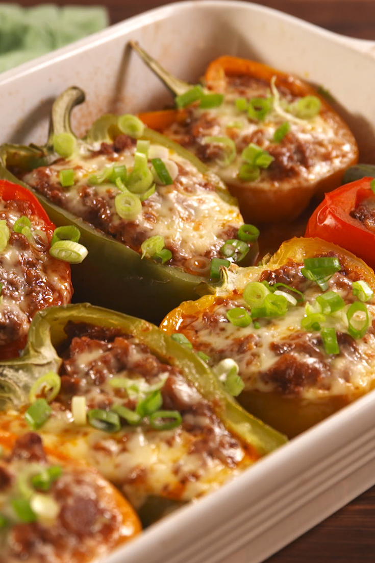 16 Best Stuffed Bell Peppers Recipes - How to Make Stuffed Green Peppers—Delish.com