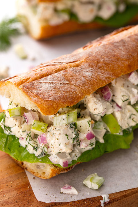 Chicken Salad Sandwich Vertical