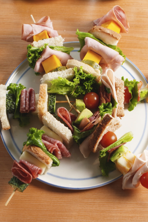 Even picky eaters can't resist a lunch on a stick. Get the recipe from Delish.
