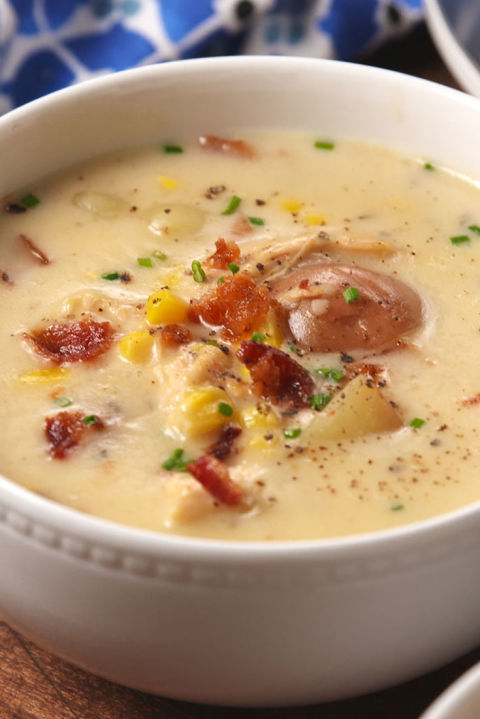 Corn chowder is so much better when it's cooked low and slow. Get the recipe from Delish.