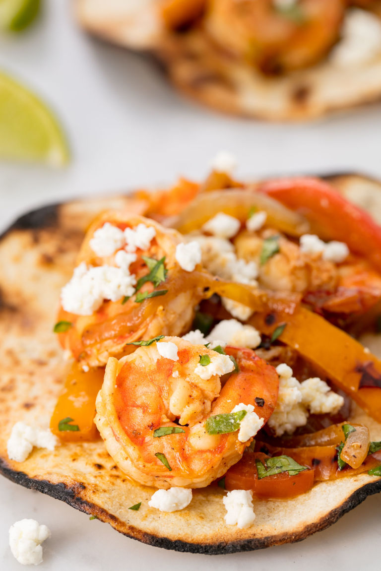 Shrimp Fajitas Vertical