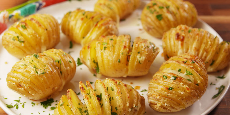 70 easy side dishes best side dish recipesdelish garlic butter potatoes forumfinder Gallery