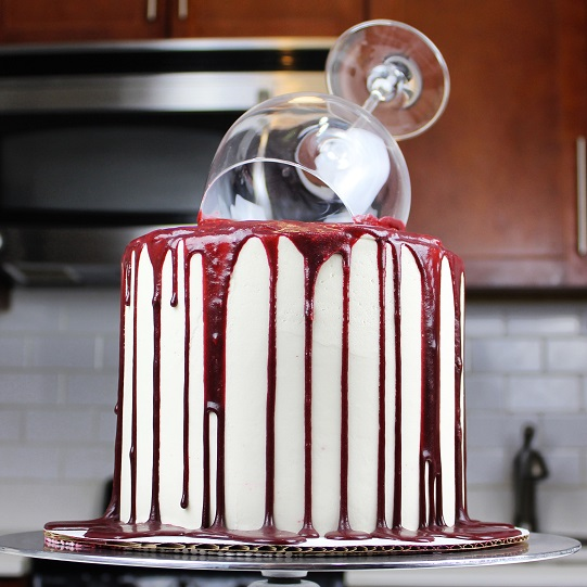 You Have To See How This Wine Glass Cake Is Made Delish Com