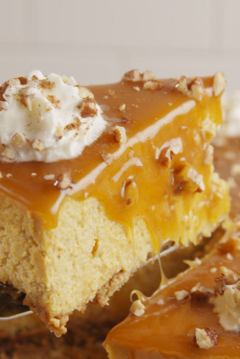This luscious cheesecake will be your new pumpkin obsession. Get the recipe from Delish.