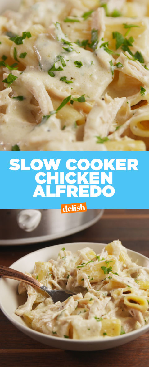 Best Slow-Cooker Chicken Alfredo Recipe - How to Make Slow ...