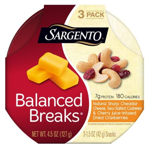 These convenient packs portion out cheese, nuts, and dried fruit for a protein and healthy-fat packed snack. BUY NOW: $4