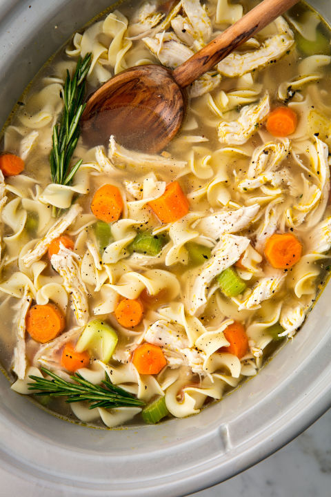The easiest way to make the most comforting meal. Get the recipe: Crockpot Chicken Noodle Soup BUY NOW: Hamilton Beach Slow Cooker, $27; amazon.com.