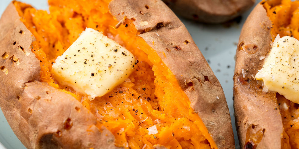 Recipes for baked sweet potatoes