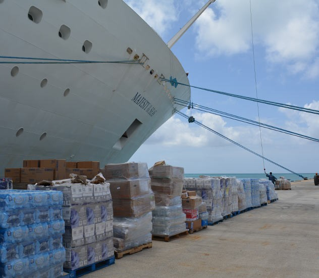 Royal Caribbean Canceled A Cruise To Bring Water And Medical - Cruise ship supplies