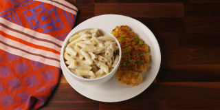 cajun oven baked chicken with creamy parmesan pasta