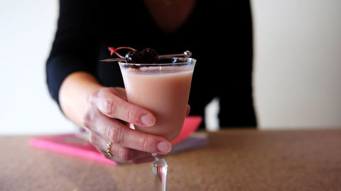 On Wednesdays We Drink Pink Horizontal