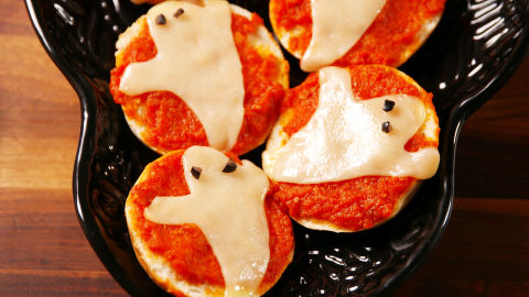 Ghost Pizza Bagels Horizontal
