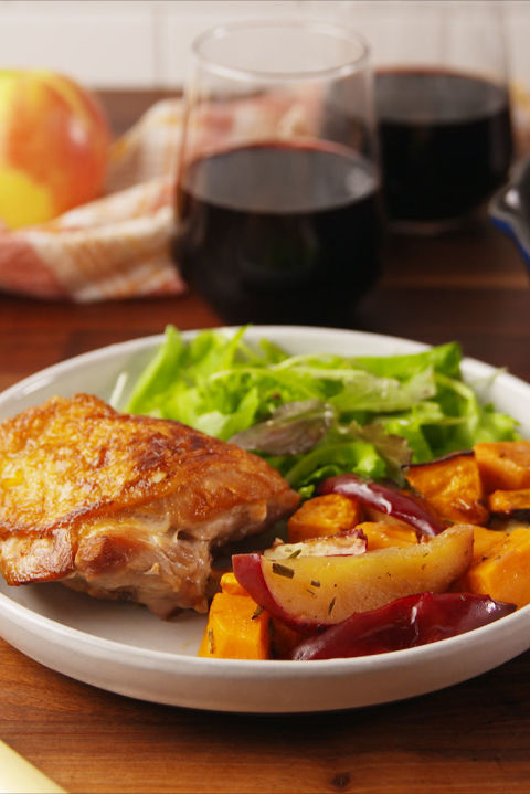 The perfect chicken recipe for fall. Get the recipe from Delish.