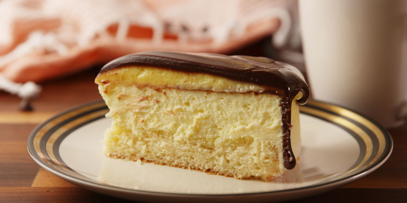 Boston Cream Cake Delish