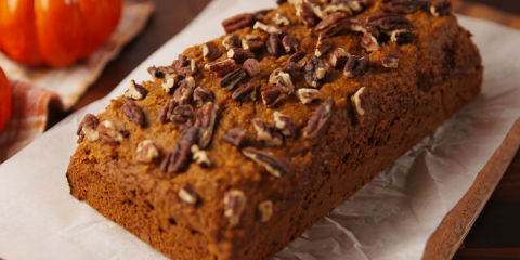 Gluten-Free Pumpkin Bread Horizontal Close