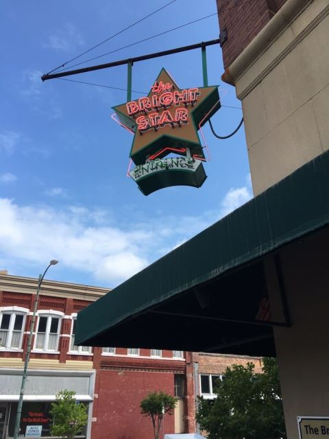 This tiny café has been on the scene in Bessemer, AL since 1907, serving patrons at its horseshoe-shaped bar. Greek immigrants started the joint, and it still serves up Mediterranean-inspired specials, like Greek-style snapper.