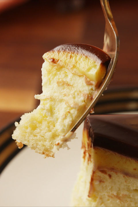 """A new version of the beloved Boston Cream Pie. Get the recipe from TheNextTycoon. BUY NOW: Wilton 9"""" Springform Pan, $13,."""