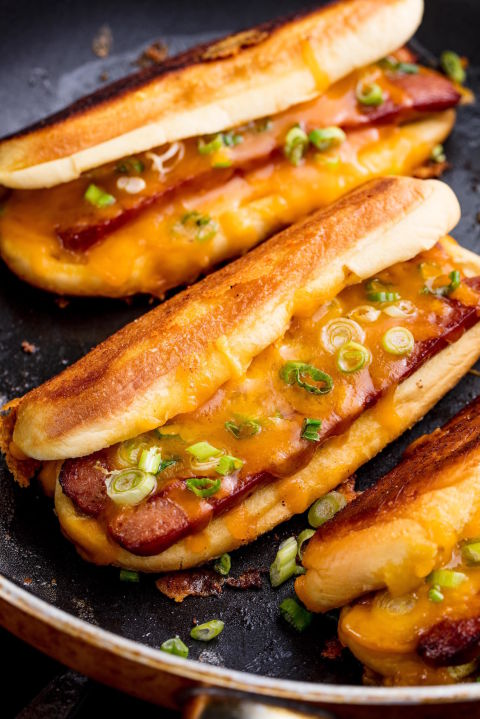 Grilled Cheese Dogs Vertical