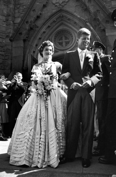 In one of the most high-profile weddings of the 20th century, Jacqueline Onassis and former President John F. Kennedy were married on September 12, 1953 in St. Mary's Church. They were married until Kennedy's assassination in 1963.