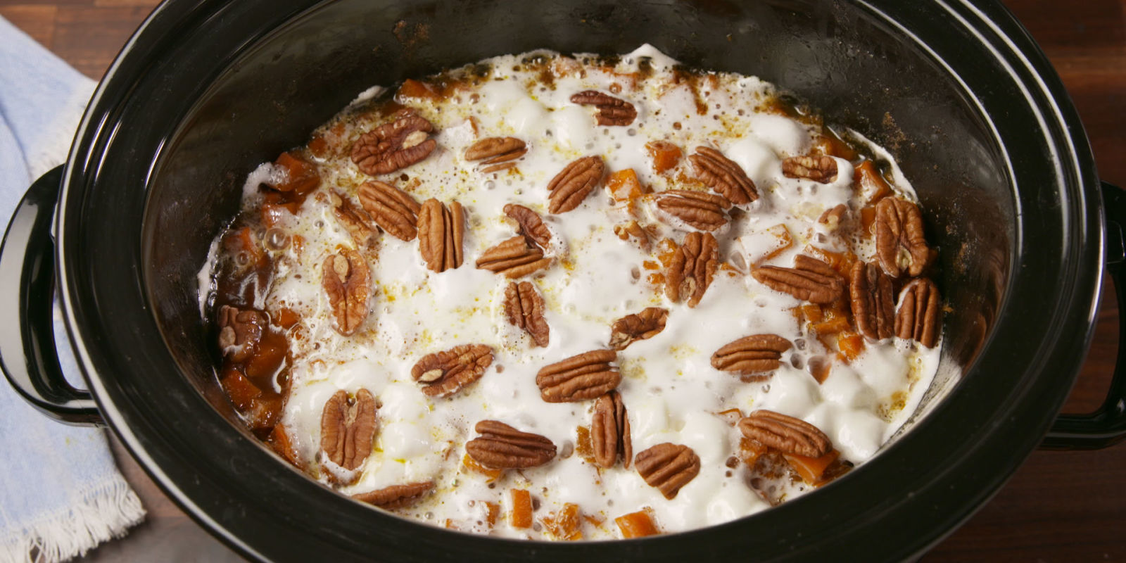 Best Crock Pot Sweet Potato Casserole Recipe How To Make Crock Pot Sweet Potato Casserole