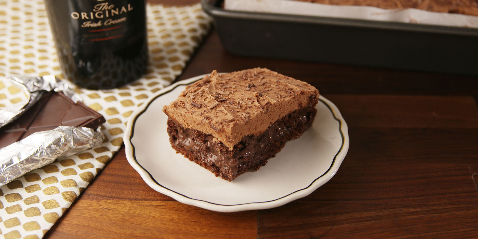 Chocolate Peanut Butter Poke Cake Delish Recipe