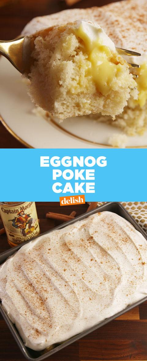 Best Eggnog Poke Cake Recipe How To Make Eggnog Poke Cake