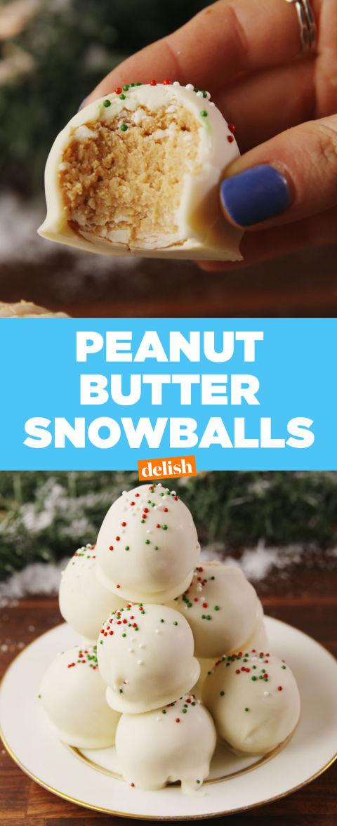 Best Peanut Butter Snowball Recipe How To Make Peanut Butter Snowballs