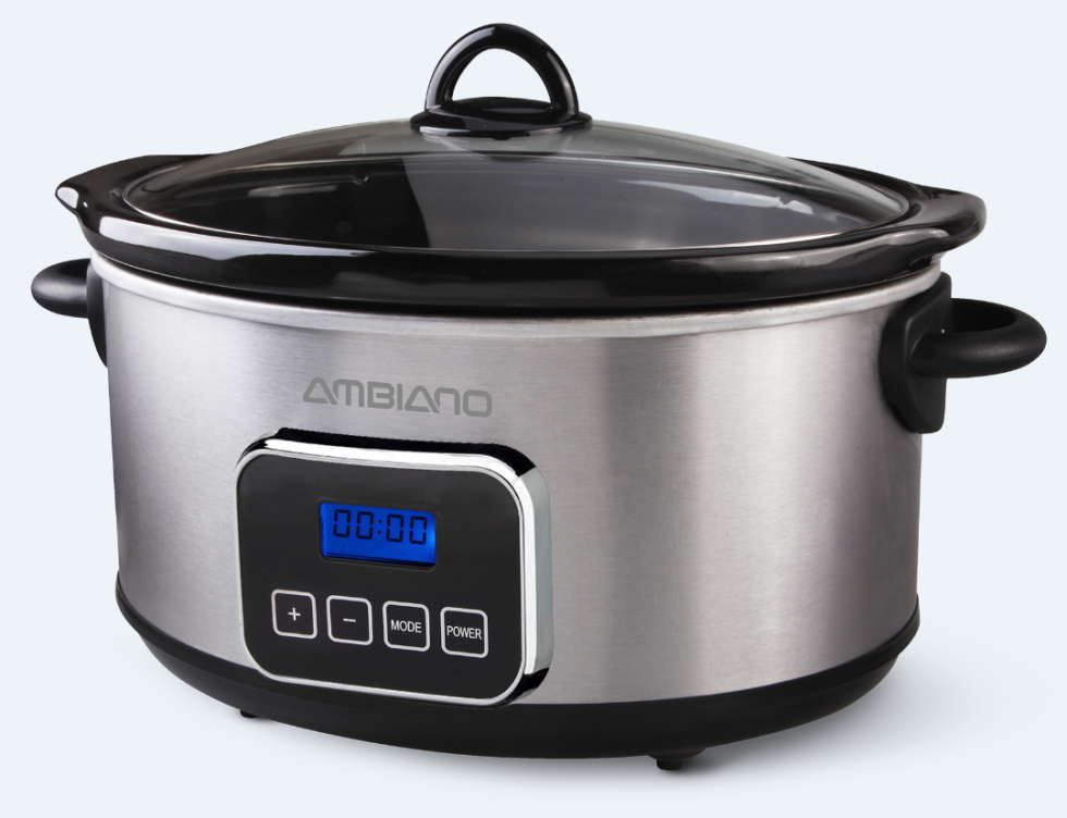 ambiano 5 8 qt  programmable slow cooker 13 aldi deals to kickstart your new year u0027s resolutions   delish com  rh   delish com