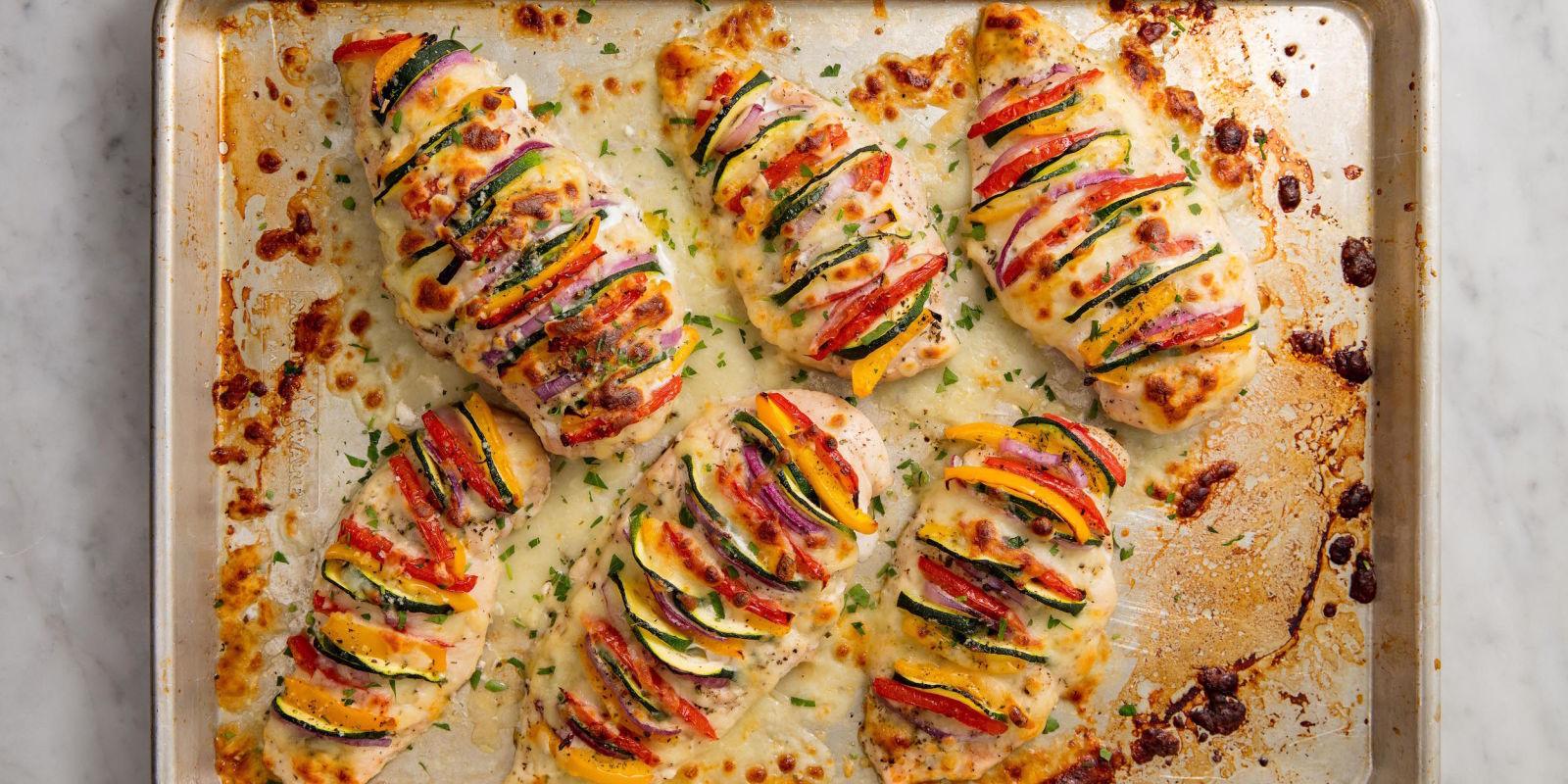Best Primavera Stuffed Chicken Recipe How To Make Primavera Stuffed Chicken