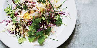 Lemony Quinoa Salad with Shaved Vegetables Recipe