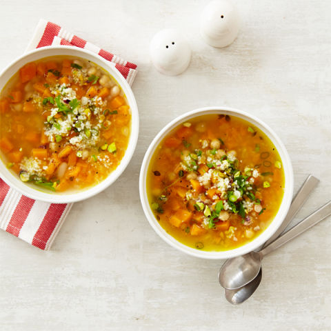This hearty and flavorful soup, filled with squash, beans, and chickpeas, was made for warming up chilly fall evenings. Recipe: Butternut Squash and White Bean Soup