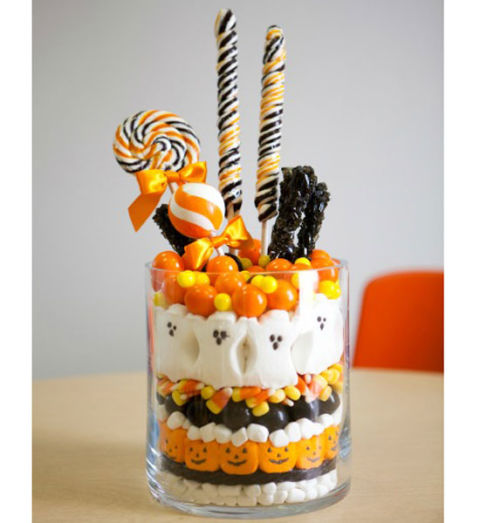 halloween candy centerpiece - Edible Halloween Decorations
