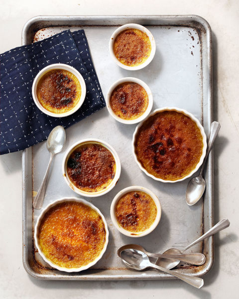 To create the signature shell covering this creamy, coffee-infused custard, sprinkle with brown sugar and broil until bubbly and deep brown. Recipe: Coffee Crème Brûlée