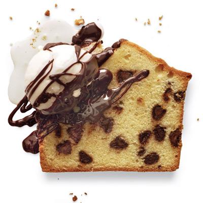 Chocolate Chip Pound Cake with Chocolate Coffee Liqueur Sauce Recipe