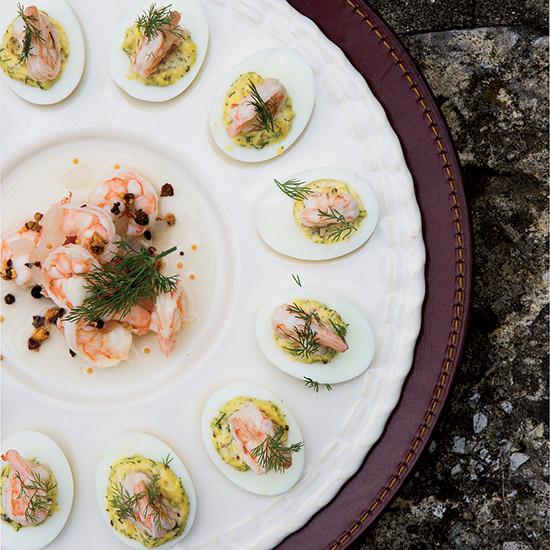 Deviled Eggs with Pickled Shrimp Recipe