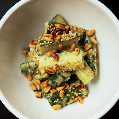Salt-Massaged Cucumber With Miso And Sesame Recipe — Dishmaps