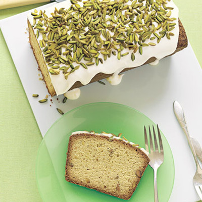 ... be more festive.Recipe: Pistachio Pound Cake with Drippy Icing