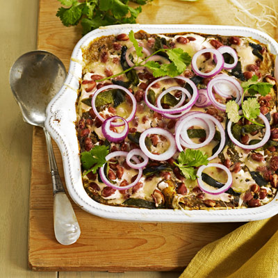 11 vegetarian mexican recipes meatless mexican food this hearty mexican inspired vegetarian casserole layers three kinds of beans with tortillas cheese forumfinder Choice Image