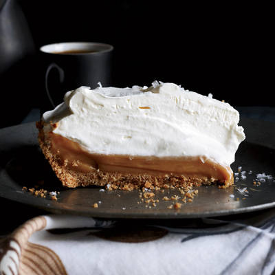 This super easy caramel lovers' dream pie is from Simplethings Sandwich & Pie Shop in Los Angeles. The filling is sweetened condensed milk sprinkled lightly with sea salt and baked until thick and gooey, then chilled in a simple graham cracker crust.Recipe: Salted Caramel Pie
